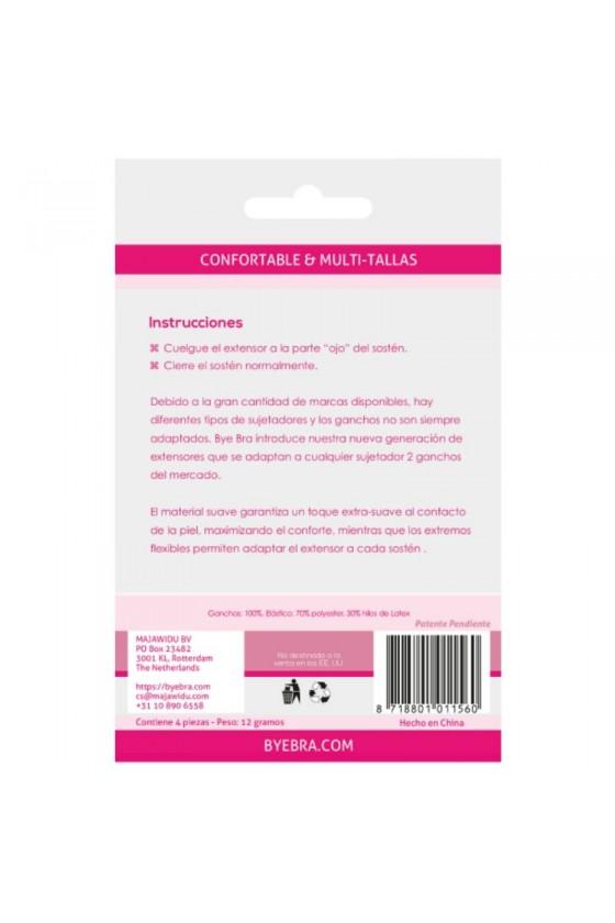 BYEBRA EXTENSORES DE CONTORNO FLEXIBLES 2 GANCHOS NUDE 4UDS