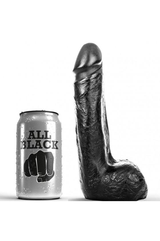 ALL BLACK DILDO REALISTICO NEGRO SUAVE 20 CM