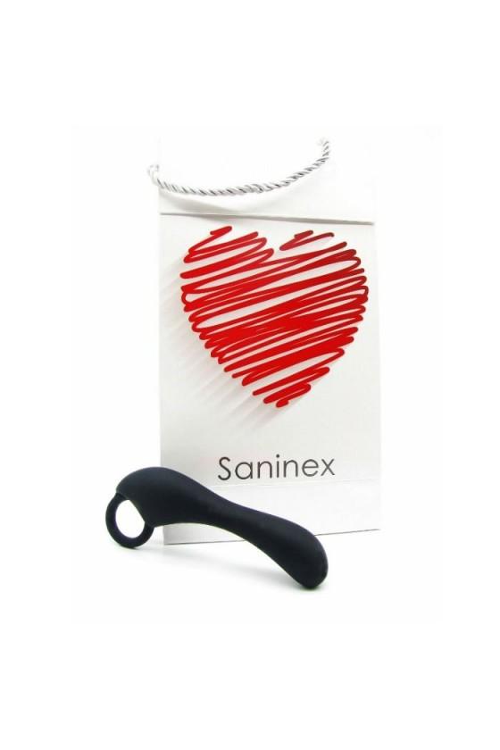 SANINEX ESTIMULADOR DUPLEX ORGASMIC ANAL SEX UNISEX NEGRO