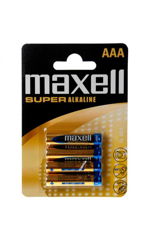 MAXELL PILA SUPER ALKALINE AAA LR03 BLISTER4