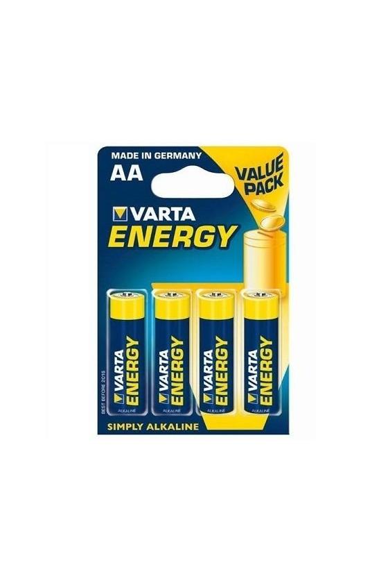 VARTA ENERGY PILA ALCALINA AA LR6 BLISTER4